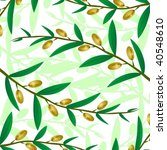 olive branch on a light brown... | Shutterstock .eps vector #40548610