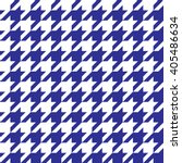houndstooth pattern blue in... | Shutterstock .eps vector #405486634