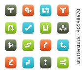 16 arrow icons. the vector file ... | Shutterstock .eps vector #40548670