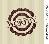 worthy grunge style stamp | Shutterstock .eps vector #405487261