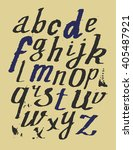 hand drawn alphabet. vector... | Shutterstock .eps vector #405487921