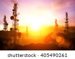 Silhouette Of Telecommunicatio...
