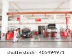 blurred of inside car garage... | Shutterstock . vector #405494971