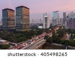 Sunset Over Jalan Sudirman  On...