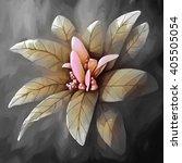 painting still life flower  | Shutterstock . vector #405505054