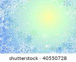 blue vector winter background