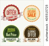 sale price badge retro design... | Shutterstock .eps vector #405515725