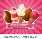 ice cream. big set  logo ... | Shutterstock .eps vector #405516751