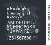 hand drawn doodle alphabet sans ... | Shutterstock .eps vector #405517789