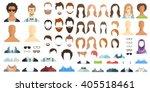 avatar constructor. haircuts ... | Shutterstock .eps vector #405518461