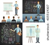 business conference and... | Shutterstock .eps vector #405519307