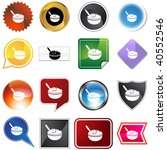 oatmeal icon set isolated on a... | Shutterstock .eps vector #40552546
