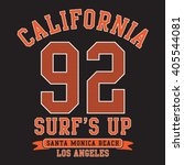college sport surf typography ... | Shutterstock .eps vector #405544081