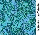 seamless vector tropical... | Shutterstock .eps vector #405544414