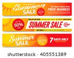 summer sale banners set | Shutterstock .eps vector #405551389