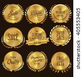 quality golden medallion with... | Shutterstock .eps vector #405553405