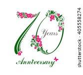 70 years anniversary. happy... | Shutterstock . vector #405558274