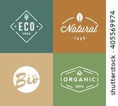 set of organic food badges.... | Shutterstock .eps vector #405569974