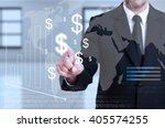 businessman touching... | Shutterstock . vector #405574255