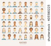 set of avatar icons. | Shutterstock .eps vector #405580225