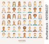 set of avatar icons.   Shutterstock .eps vector #405580237