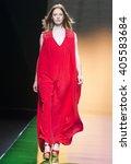 madrid   september 18  a model... | Shutterstock . vector #405583684