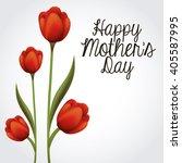 happy mothers day design  | Shutterstock .eps vector #405587995