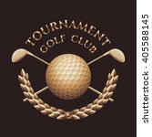 golf tournament  competition... | Shutterstock .eps vector #405588145