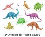 Prehistoric Animal Montage Of...