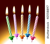 Birthday Candles. Vector...
