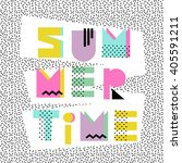 summer time. hand drawn... | Shutterstock .eps vector #405591211