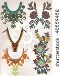 vector vintage necklace set | Shutterstock .eps vector #40559458