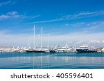 the yachts at the bay in athens ... | Shutterstock . vector #405596401