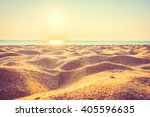 beautiful beach sand and sea at ... | Shutterstock . vector #405596635