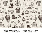 vintage objects vector graphic... | Shutterstock .eps vector #405602359