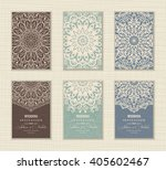 wedding invitation card arabic  ... | Shutterstock .eps vector #405602467