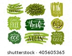 hand sketched badges and labels ... | Shutterstock .eps vector #405605365