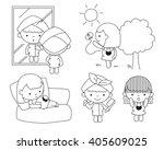 expectant mother   pregnancy  ... | Shutterstock .eps vector #405609025