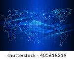 abstract technology circuit... | Shutterstock . vector #405618319