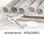 rolls of architecture... | Shutterstock . vector #405620851