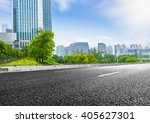 clean road of city   rapid city ... | Shutterstock . vector #405627301