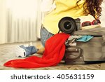 window clothes and floor... | Shutterstock . vector #405631159