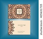 oriental business card mock up... | Shutterstock .eps vector #405631735