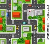 top view city seamless    Shutterstock . vector #405632215