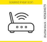 wi fi router linear icon. thin... | Shutterstock .eps vector #405634075