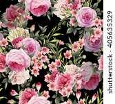 seamless floral pattern with... | Shutterstock . vector #405635329