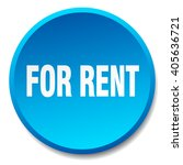 for rent blue round flat... | Shutterstock .eps vector #405636721
