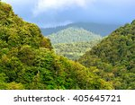 view of mountain forest trees... | Shutterstock . vector #405645721