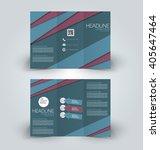 brochure mock up design... | Shutterstock .eps vector #405647464