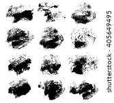 black ink prints big set... | Shutterstock .eps vector #405649495